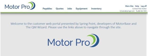 Motor Pro Landing Page